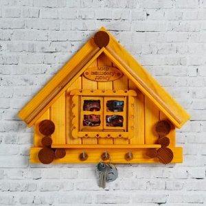 """Ключница деревянная """"Дом с окном"""", 30x 25 см"""