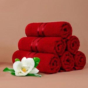Набор полотенец для рук Harmonika цвет красный (30х50 см - 25 шт)