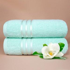 Набор банных полотенец Harmonika цвет ментоловый (70х130 см - 5 шт)