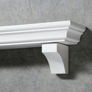 """Полка интерьерная из массива ясеня """"Классическая"""", 50x 15 см, цвет белый"""