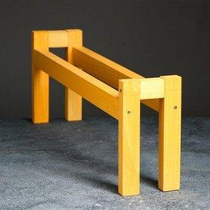 """Полка деревянная """"Ручная"""", цвет желтый, 18x 50x 10 см"""