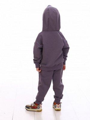 Костюм Цвет: графит; Состав: Хлопок 80%, п.э.20%%; Материал: футер петельчатый Модный спортивный костюм для детишек -приятный к телу. В нем Вы будете чувствовать себя стильно и комфортно. Толстовка