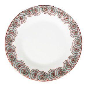ROSE Тарелка десертная, d 20 см, опаловое стекло, плоский край, ROSE, 6/48