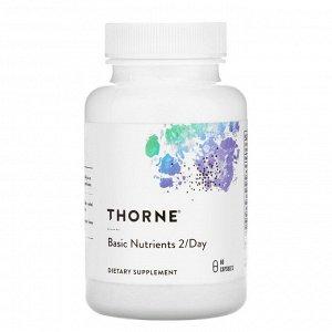 Thorne Research, базовые питательные вещества для приема 2 капсул в день, 60 капсул