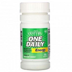 21st Century, One Daily Energy, энергетическая добавка, 75 таблеток