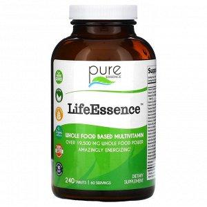 Pure Essence, LifeEssence, цельнопищевые мультивитамины, 240 таблеток