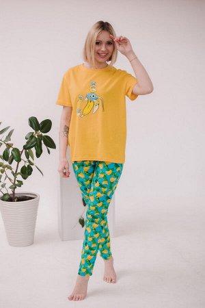 Женская пижама ЖП 024 (принт смешарики в банане)