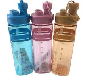 Бутылка спортивная с пробкой 700мл, пластик/силикон 1/80