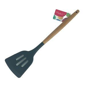 GREYWOOD Лопатка кухонная, с отверстиями, силикон, дерево, GREYWOOD, 1/12/144