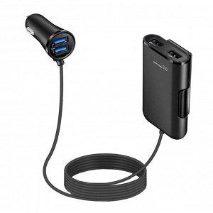 Автомобильное зарядное устройство Car Charger / 4 USB, 8A, QC 3.0