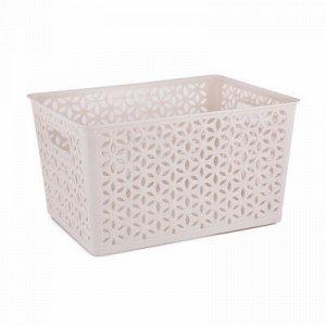 Корзина Корзина   380*285*210мм с/к [МИРАЖ] БЕЖЕВЫЙ Корзина предназначена для хранения мелочей в ванной, на кухне, на даче или в гараже. Данное изделие позволит хранить мелкие вещи, исключая возможнос