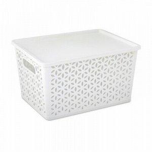 Корзина Корзина   380*285*210мм с/к [МИРАЖ] БЕЛЫЙ Корзина предназначена для хранения мелочей в ванной, на кухне, на даче или в гараже. Данное изделие позволит хранить мелкие вещи, исключая возможность