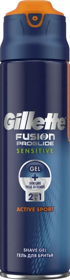 GILLETTE Fusion ProGlide Sensitive Гель для бритья Active Sport 170мл