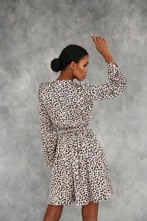 Платье из искусственного шёлка с имитацией запаха