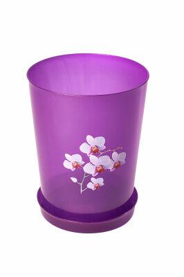 """Горшок Горшок цв. д/орхидеи """"Декор"""" 3,5л (прозрачно-фиолет.) Данный цветочный горшок идеально подходит для выращивания изящной орхидеи дома или в офисе. Ведь для роста и цветения этой капризной красав"""