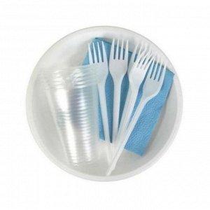 ПАКЛАН Набор для пикника на 6 пер (тарелки 170 мм + стаканы 200 мл + вилки)