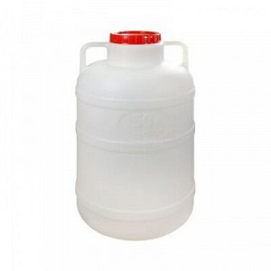 Канистра Канистра-бочка 50л Канистра изготовлена из прочного пищевого пластика и предназначена для транспортировки и хранения пищевых жидкостей. Изделие безопасно для здоровья, герметично, устойчиво к