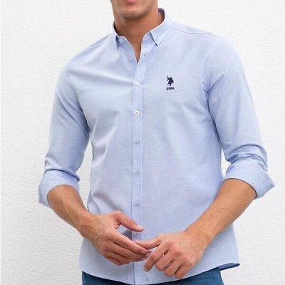 U.S.Polo Assn. Качественные рубашки и футболки поло.  — Мужские рубашки — Длинный рукав