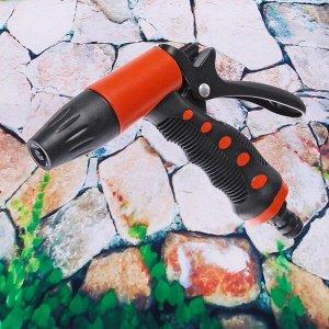 Наконечник-пистолет с регулятором напора воды, прорезиненная ручка ДоброСад