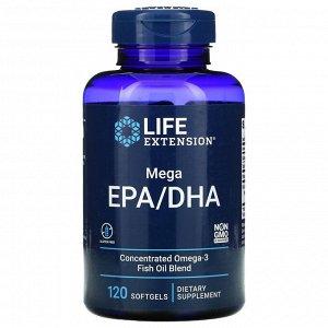 Life Extension, Мегаэффективный комплекс ЭПК/ДГК, 120 мягких желатиновых капсул