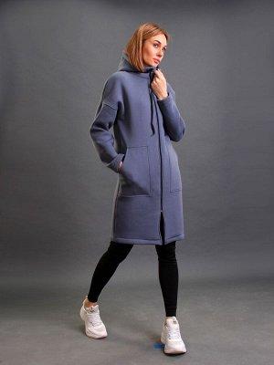 Пальто трикотажное кр063 маренго