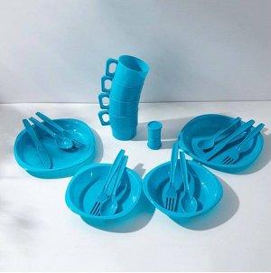 Дачный набор пластиковой посуды.
