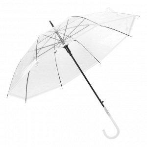 Зонт детский полуавтоматический 45см прозрачный