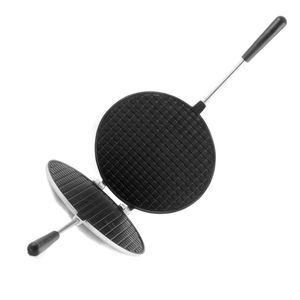 "Форма для выпечки ""Вафельница"" (диаметр 200мм), АП (темный мрамор) 1/6"
