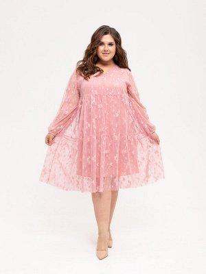 Платье 414 пудра