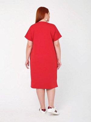 Платье 0141-9 красный