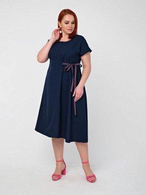 Платье 0083-3 темно-синий