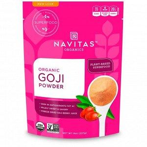 Navitas Organics, Organic, порошок ягод годжи, 8 унц. (227 г)