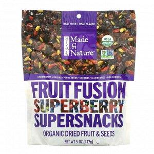 Made in Nature, Органический фруктовый Fusion Superberry Blast Supersnacks, 5 унций (142 г)