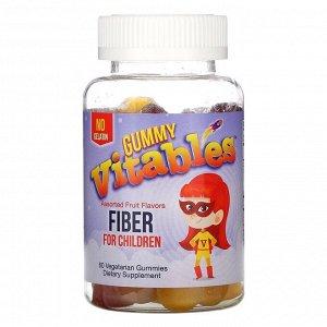 Vitables, Жевательная клетчатка для детей, без желатина, вкус фруктового ассорти, 60 вегетарианских жевательных таблеток
