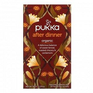 Pukka Herbs, После ужина, травяной чай, 20 пакетиков, 1.27 унций (36 г)