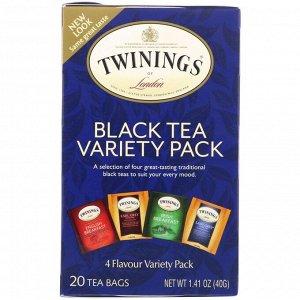 Twinings, Классический черный чай, 20 чайных пакетиков с разными вкусами, 1,41 унции (40 г)