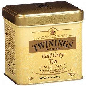 Twinings, Чай Earl Grey россыпью, 3,53 унции (100 г)
