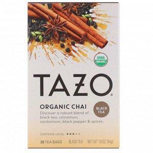 Tazo Teas, Органический черный чай, 20 фильтр-пакетиков, 1,9 унции (54 г)