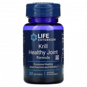 Life Extension, средство для здоровых суставов из криля, 30 мягких таблеток