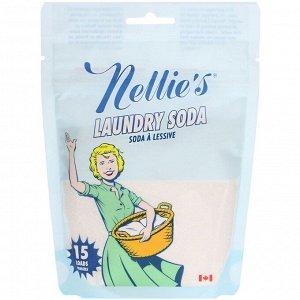 Nellie's, Сода для стирки, 15 мерных ложек, 0,55 фунта (250 г)