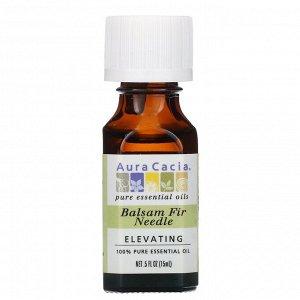 Aura Cacia, 100% чистое эфирное масло, хвоя пихты бальзамической, 15 мл (0,5 жидк. унции)
