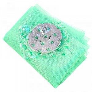 Сетка антимоскитная на окно 0,75х2м, зеленый, репейная лента