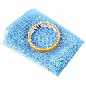 Сетка антимоскитная на окно 0,75х2м, синий, липкая лента 6м.