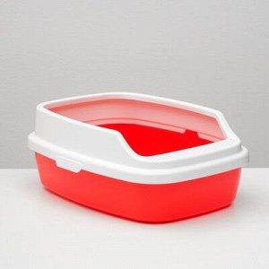 """Туалет """"Айша"""" с бортом 53 x 39 x 21 см, красный"""