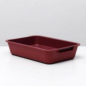 """Туалет с сеткой """"Белла"""" для кошек, 37 x 27 x 8 см, красный"""