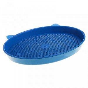 """Туалет с сеткой """"Киса"""", 37 x 27 x 4 см, синий"""
