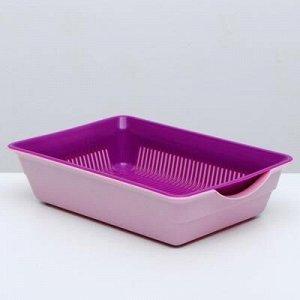 Туалет глубокий с сеткой, 36 x 26 x 9 см, розовый/пурпурный