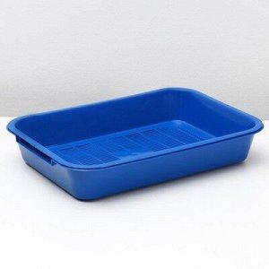 Туалет средний с сеткой, 36 x 26 x 6,5 см, синий/черничный