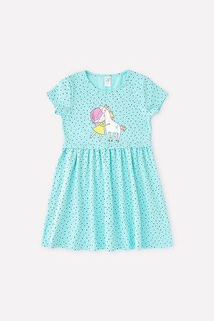 Платье для девочки Crockid К 5694 морозная мята, горошки к1268