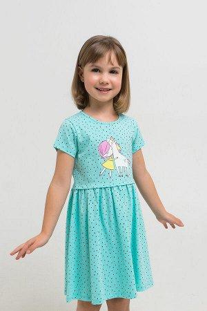 Платье(Весна-Лето)+girls (морозная мята, горошки к1268)